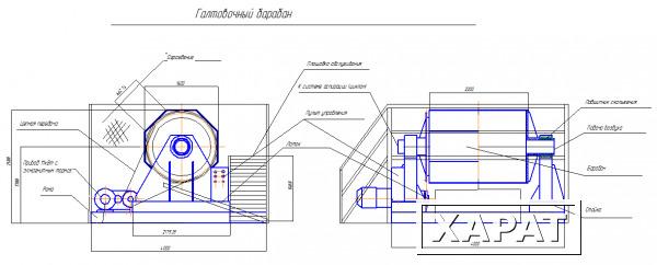 Галтовочный барабан чертежи